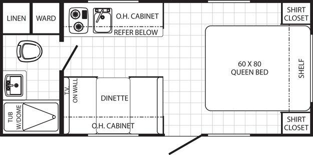 2016 canyon cat 18fbc for 18 foot travel trailer floor plans